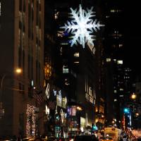 Снежинка в Нью Йорке